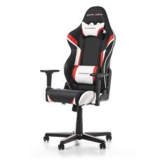 DXRacer - Racing GC-R288-NRW-Z1, Black/Red/White - PU leather, Gamer weight up to 100kg / growth 165-195cm, Foam Density 50kg/m3, 5-star Aluminum IC Base, Gas Lift 4 Class, Recline 90*-135*, Armrests: 3D, Pillow-2, Caster-2*PU, W-23kg