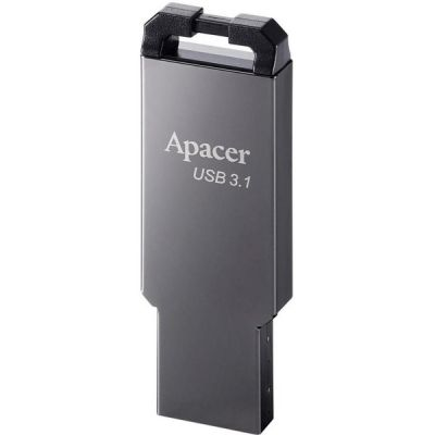 32GB USB3.1 Apacer AH360, Black Nickel, Slim Metallic
