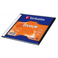 DVD-R 120min/4.7GB, 16x, Verbatim, Slim case