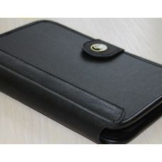 "Cover 7-8"" Saxon Black Leather"