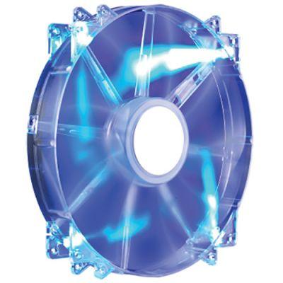 200x200x30mm CoolerMaster MegaFlow 200 Blue LED Silent (R4-LUS-07AB-GP), 700rpm, 19dBa, 110CFM, 3pin,