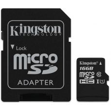 16GB microSD Class10 UHS-I + SD adapter Kingston Canvas Select, 400x