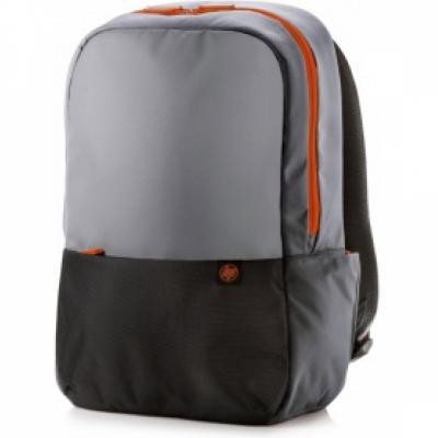 HP Duotone Orange Backpack, Grey/Black/Orange