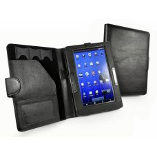 "Cover 7"" Archos 70b Tuff-Luv Traditional Book Folio Veggie Leather case cover for Archos 70b e-reader"